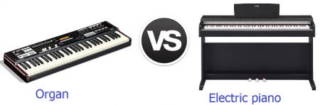Cách phân biệt giữa Piano điện và Organ
